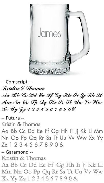 Weddingstar Engravable 14 oz. Beer Mug