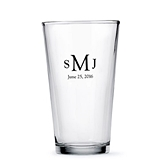 Weddingstar Personalized Pint Glass - Printed (99 Designs)