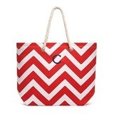 Weddingstar Monogrammed Chevron Extra-Large Cabana Tote Bag (4 Colors)