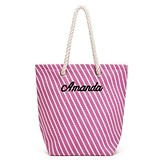 Weddingstar Personalizable Stripe Cabana Tote Bag (5 Colors)