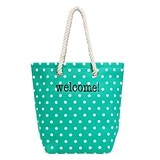 Weddingstar Personalizable Polka Dot Cabana Tote Bag (5 Colors)