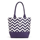 Weddingstar Chevron Canvas Tote Bag with Initial (3 Colors)