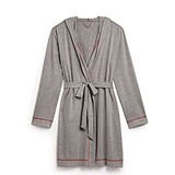 Saturday Hooded Lounge Robe - Gray (2 Stitching Colors; 2 Sizes)