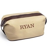 Personalizable Rugged Natural Canvas Dopp Kit