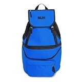 Weddingstar Monogrammed Expandable Cooler Backpack - Blue