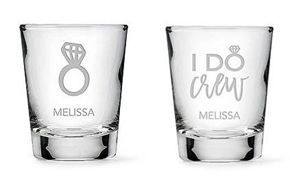 Personalized Shot Glass - Diamond Ring Etching (2 Styles)