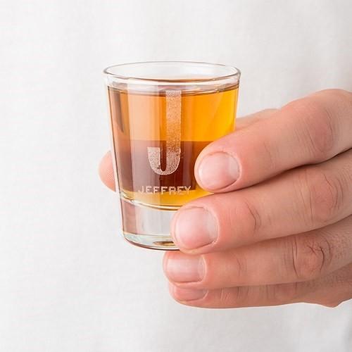 Personalized Shot Glass - Single Monogram Etching