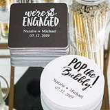 Weddingstar 100-count Personalized Engagement Party Cardstock Coasters