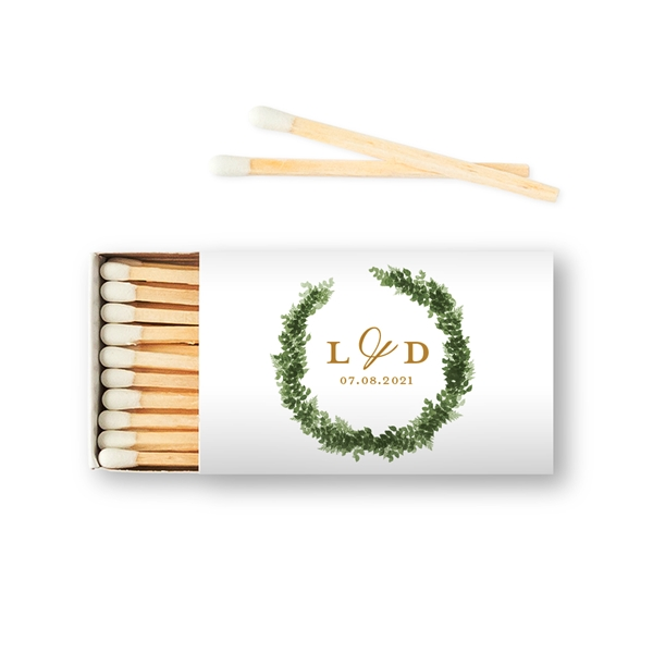 Weddingstar Custom Matchbox Wedding Favors - Love Wreath (Set of 50)