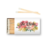 Weddingstar Custom Matchbox Wedding Favors - Modern Floral (Set of 50)