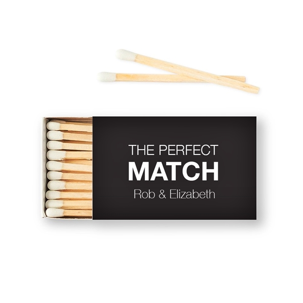 Weddingstar Custom Matchbox Wedding Favors - Perfect Match (Set of 50)