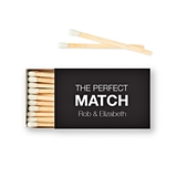 Weddingstar Custom Matchbox Wedding Favors - Perfect Match (Set of 50)