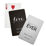 Personalized Foil-Stamped Playing Cards (17 Designs) (16 Colors)