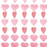 Weddingstar Mini Paper Hearts Banner Decoration (4 Colors)