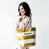 Weddingstar Personalizable Bliss Stripe Tote (4 Color Combinations)