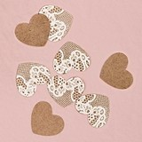 Weddingstar Kraft Paper with Lace Heart Confetti (Package of 150)