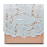 Pretty Floral Lace 'Always & Forever' Blush Favor Boxes (Set of 10)