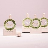 Weddingstar Love Wreath Favor Box with Ribbon (Set of 10)