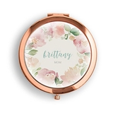 Weddingstar Garden Party Design Personalized Compact Mirror (3 Colors)
