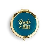 Personalizable Gold Bride Tribe Faux-Leather Compact Mirror (3 Colors)