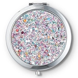 Weddingstar Personalizable Rainbow-Glitter Compact Mirror (3 Colors)
