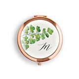 Weddingstar Monogram Greenery Design Pocket Compact Mirror (3 Colors)