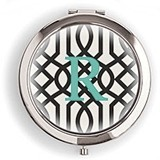 Weddingstar Designer Compact Mirror - Monogram on Trellis Design