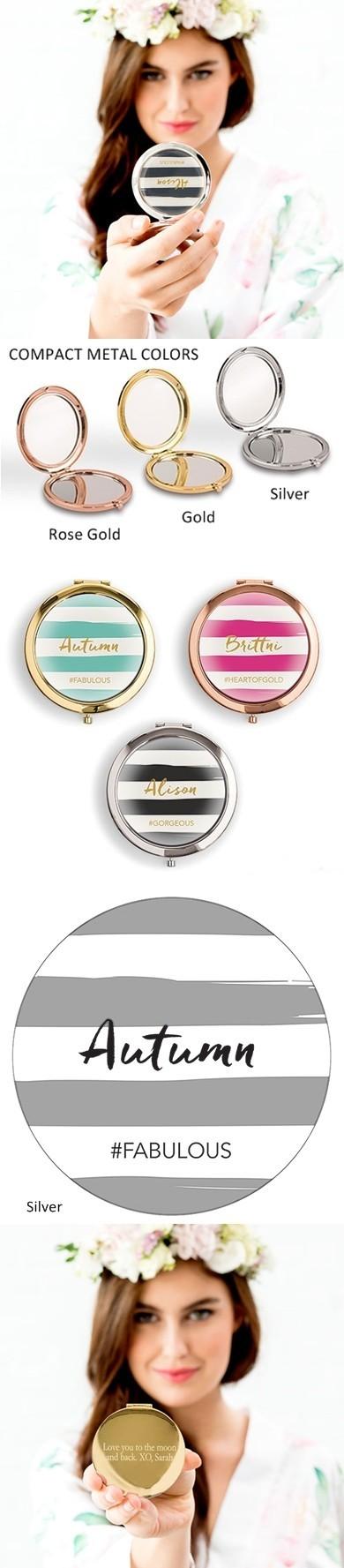 Weddingstar Designer Compact Mirror - Paint Striped Design
