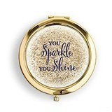 Weddingstar Designer Compact Mirror - Sparkle Shine Print