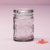 Pressed-Glass Vintage-Look Miniature Mason Jar with Stopper (Set of 6)