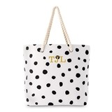 Weddingstar Personalizable Dalmatian Dot Motif Tote - Black on White
