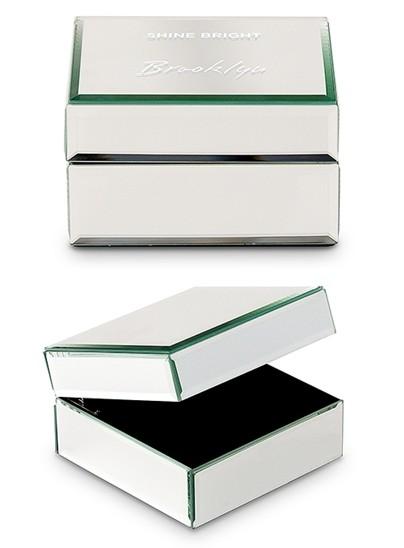 Weddingstar Personalized Mirrored Jewelry Box w/ Shine Bright Printing