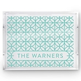 Weddingstar Personalized Acrylic Tray w/ Summer Vibes Print (3 Colors)