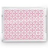 Weddingstar Acrylic Tray with Summer Vibes Monogram Print (3 Colors)