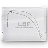 Weddingstar Rectangular Acrylic Tray with Bold Monogram Etching