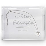 Weddingstar Rectangular Acrylic Tray with Handwritten Text Etching