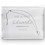 Weddingstar Rectangular Acrylic Tray with Handwritten Text Etching