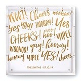 Weddingstar Square Acrylic Tray with Celebration Sparkle Foiled Print