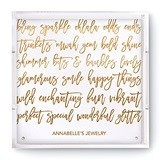 Weddingstar Square Acrylic Tray with Happy Scribbles Foiled Print
