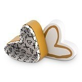 """Heart & Kisses"" Heart-Shaped Favor Boxes (Set of 6)"
