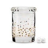 Weddingstar Gold Foil Confetti Mini Glass Favor Jar w/ Lid (Set of 6)