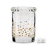 Weddingstar Gold Foil Confetti Mini Glass Favor Jar w/ Lid (Set of 6)