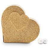 Weddingstar Gold-Glitter Heart-Shaped Favor Boxes (Set of 10)