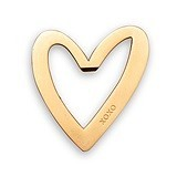 Weddingstar Matte-Gold-Metal Stylized Heart with XOXO Bottle Opener