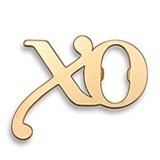 "Weddingstar Matte-Gold-Metal ""XO"" Design Bottle Opener"