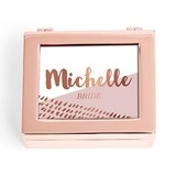 Small Modern Personalized Jewelry Box Retro Luxe Foil Print (3 Colors)