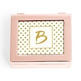 Small Modern Personalized Jewelry Box - Polka Dot Print (3 Box Colors)