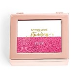 Small Modern Personalized Jewelry Box - Glitter Print (3 Box Colors)
