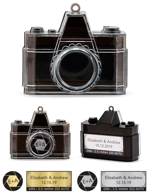 Weddingstar Personalizable Novelty Camera Party Favor Boxes (Set of 2)