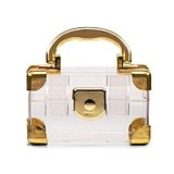 Weddingstar Mini Travel Suitcase Favor Boxes - Gold (Set of 2)
